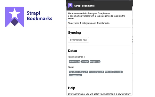 Strapi bookmarks