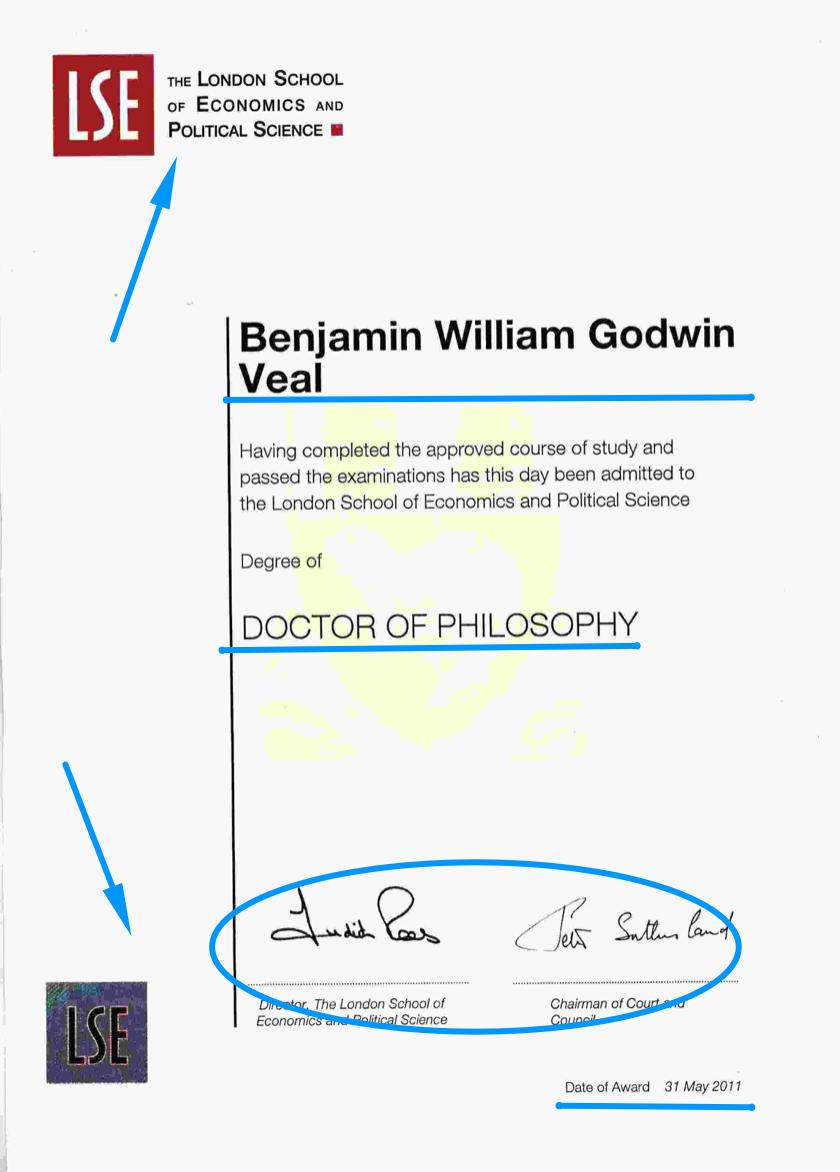 LSE diploma design template