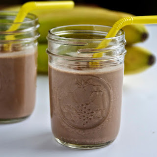 Chocolate Peanut Butter Banana Smoothie.