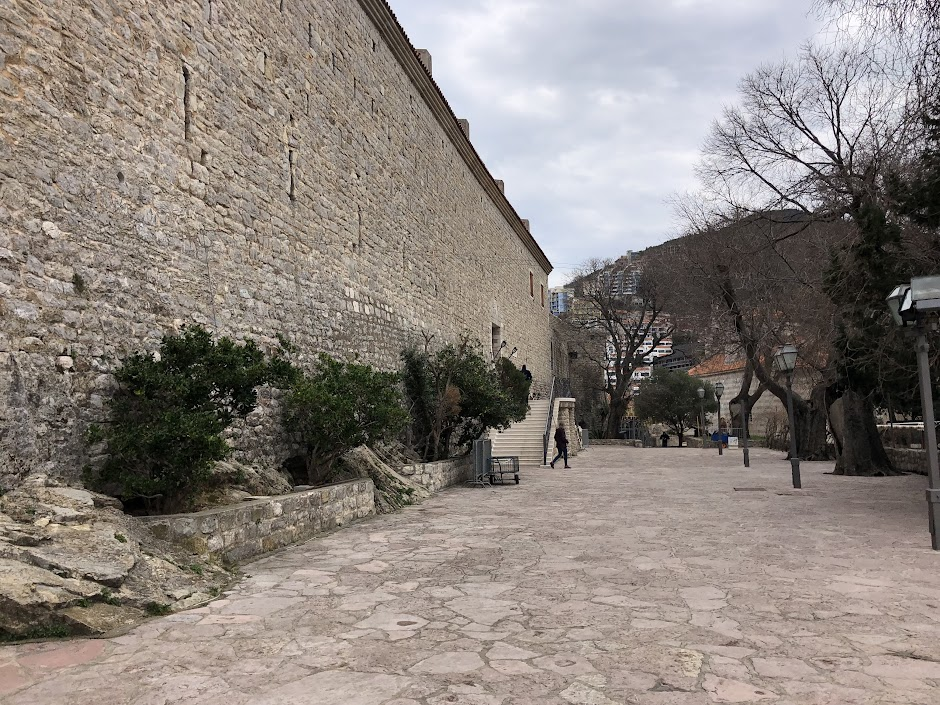 Budva city wall and museum