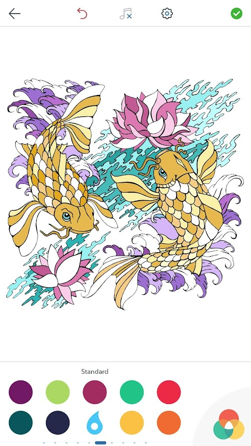 Japanese Coloring Book For Adults Screenshot