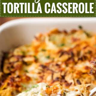 Cheesy Chicken Tortilla Casserole.