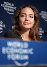 Photo: DAVOS/SWITZERLAND, 29JAN05 - Angelina Jolie, Goodwill Ambassador, United Nations High Commissioner for Refugees (UNHCR), Geneva, captured during a Press Conference at the Annual Meeting 2005 of the World Economic Forum in Davos, Switzerland, January 29, 2005. 