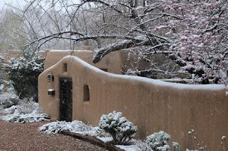 Photo: Santa Fe home in snow  4/17/09