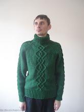 Photo: мужской вязаный свитер с косами Викинг