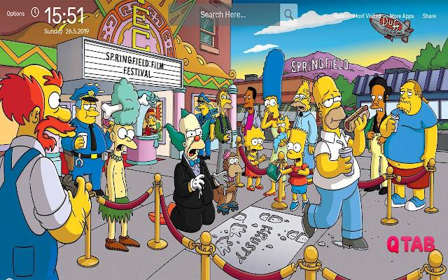 The Simpsons Wallpapers Hd Theme חנות האינטרנט של Chrome