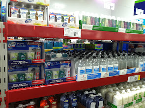 Photo: Hand soaps and sanitizers decorate the section too!