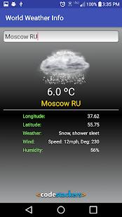 World Weather Info - náhled