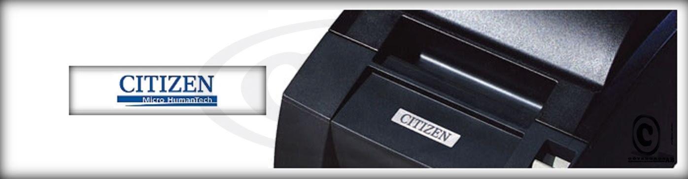 Citizen kvittorullar kvittoskrivare