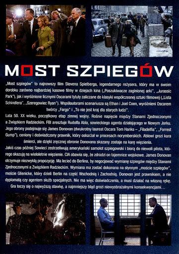 Tył ulotki filmu 'Most Szpiegów'