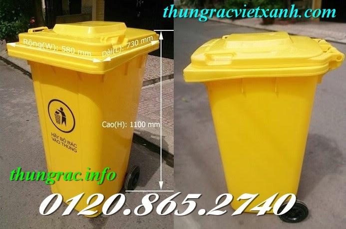 Thùng chứa rác y tế 240 lít