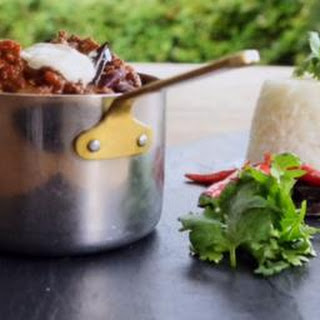Beef Chilli With Bitter Chocolate.