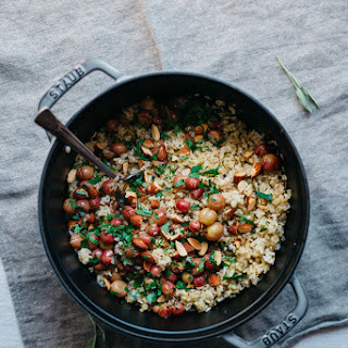 Sprouted Brown Rice Pilaf w/ Roasted Grapes & Fennel | v & gf.
