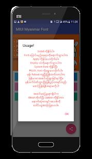 Mi Myanmar Font (MIUI 6,7,8,9) - náhled