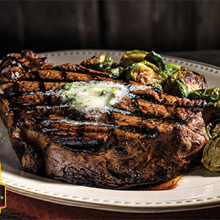 Grilled Ribeye Steak with Classic Steak Butter