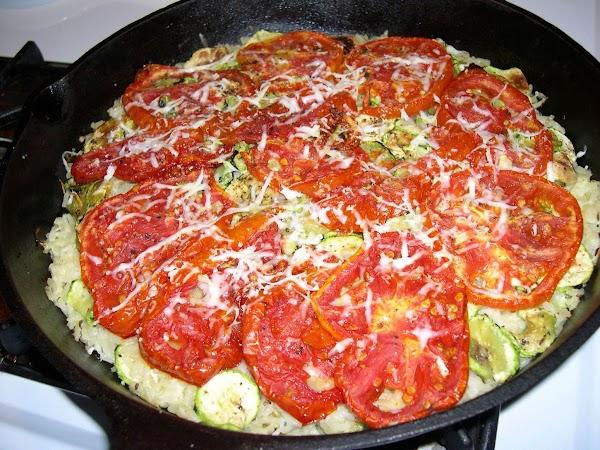 Zucchini Tomato Rice Gratin Recipe