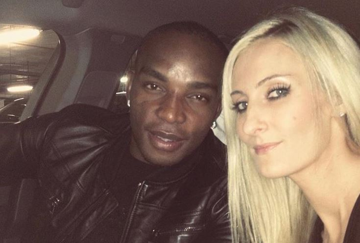 Cape Town City coach Benni McCarthy with Stacey Munroe.