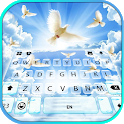 Heavenly Doves Keyboard Background icon