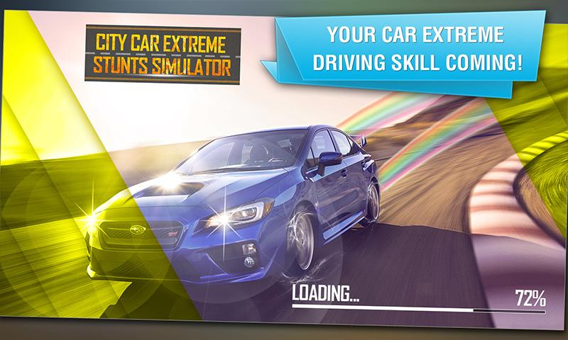City Car Extreme Stunts Sim 3D- screenshot