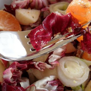 Radicchio & Endive Salad with Pecans, Apple & Mandarin