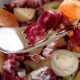 Radicchio & Endive Salad with Pecans, Apple & Mandarin