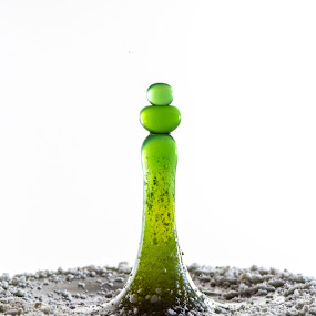by Ben Porway - Abstract Water Drops & Splashes ( water, highspeed, liquid, peaceful, splash, fluid, blue, drips, green, ocean, natural )