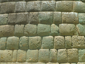 Photo: Inca's best masonry, closer view.  This was done around A.D. 1550.