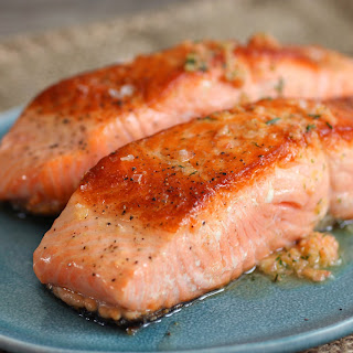 Salmon With Smoked Salmon Butter