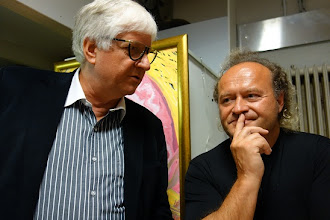 Photo: LIVE PERFORMANCE Vladimir Kiseljov am 4.9.2014. Dr. Klaus Billand und Peter Svensson. Foto: Peter Skorepa