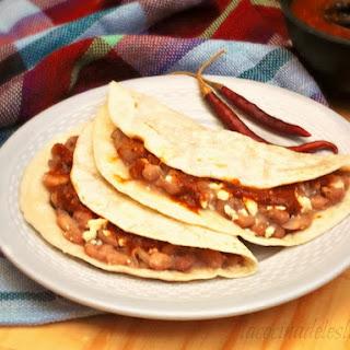 Tacos De Frijoles Con Queso Recipe