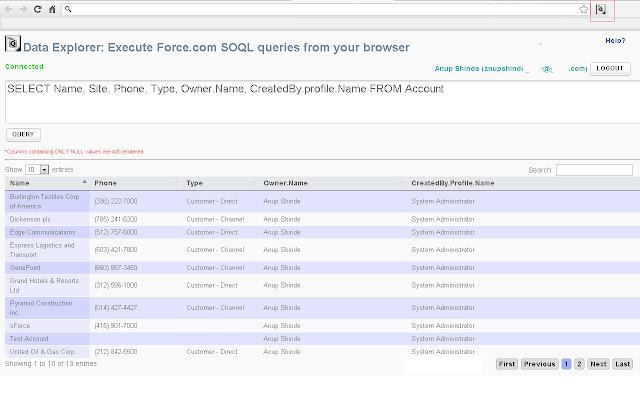 Data Explorer for Force.com