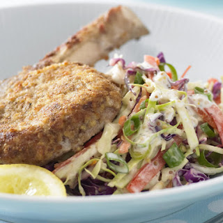 Breaded Veal Cutlets with Coleslaw