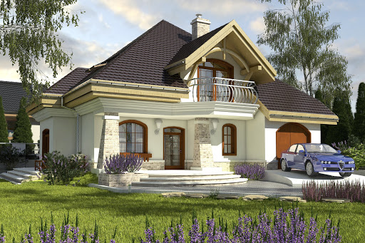projekt domu Dzierlatka II z garażem 1-st. A