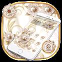 Luxury Rose Gold Flower Theme 🌺🏵️ icon