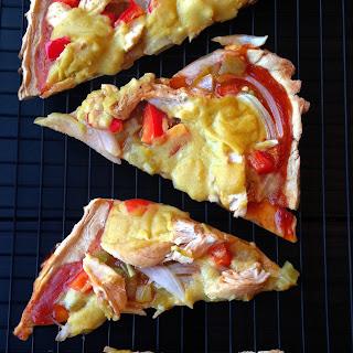 Chicken Enchilada Pizza {Gluten + Dairy Free}