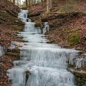 Frozen Falls by Mandy Cole - Landscapes Waterscapes (  )