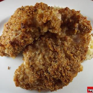 Crunchy Oven-Fried Pork Chops.