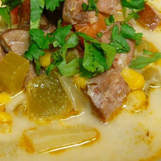 Andouille Sausage and Corn Chowder