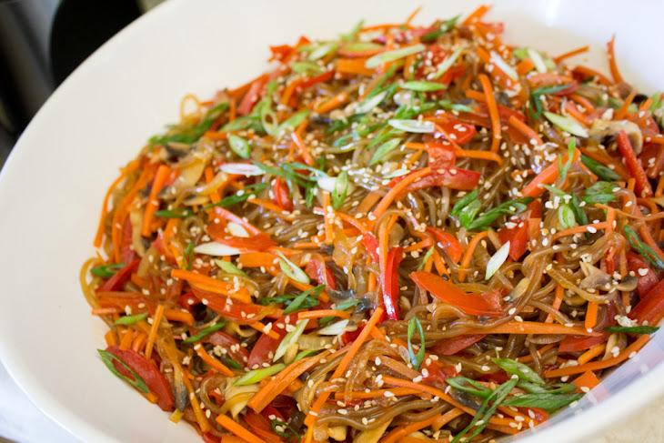Vegan Japchae recipe (Korean Stir-Fried Sweet Potato Noodles) Recipe ...