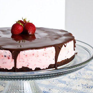 Chocolate Strawberry Ice Cream Cake.