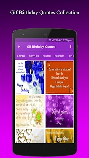 Gif Birthday Quotes Collection - náhled