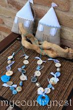 Photo: collane bottoni modello light con pendente in pietra azzurra
