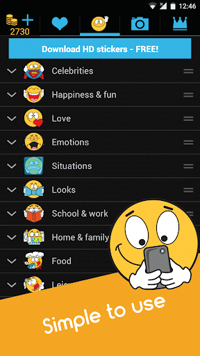 Emojidom emoticons for texting, emoji for Facebook 5.5 screenshots 5