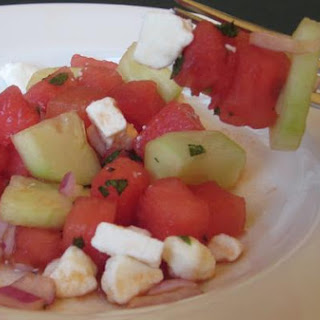 Savory and Sweet Watermelon Salad