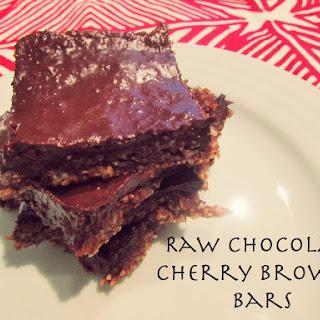 Raw Chocolate Cherry Brownie Bars