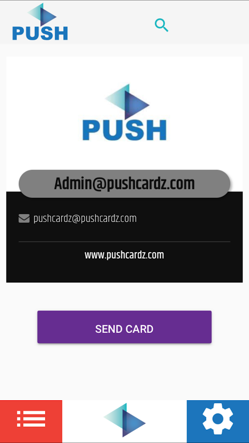 Push Cardz Business Cards- screenshot
