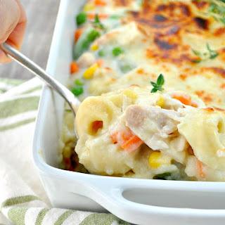 Chicken and Veggie Tortellini Casserole
