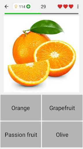 Fruit and Vegetables, Nuts & Berries: Picture-Quiz 3.0.0 screenshots 9