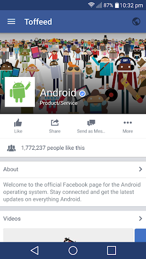 Toffeed for Facebook 1.5.5 screenshots 1