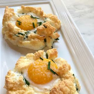 21 Day Fix Cloud Eggs with Asago and Chives Recipe